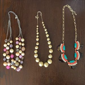 Jewelry - Assorted costume necklaces.